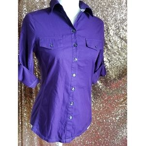 Converse one star ribbon button up